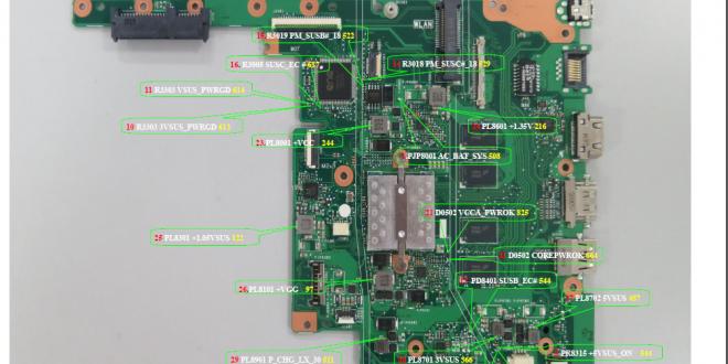 Asus EeeBook E402SA schematic diagram