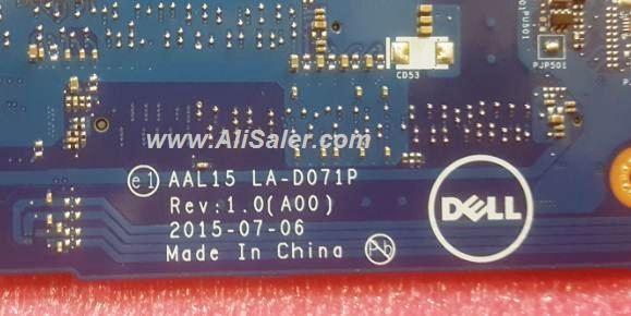 Dell 5559 LA-D071P Bios Bin – AliSaler com