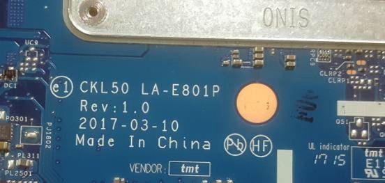 HP 15-bs089nia CKL50 LA-E801P Rev:1 0 Bios Bin – AliSaler com