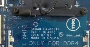 Dell Inspiron 15 7560 BKD40 LA-D821P Bios