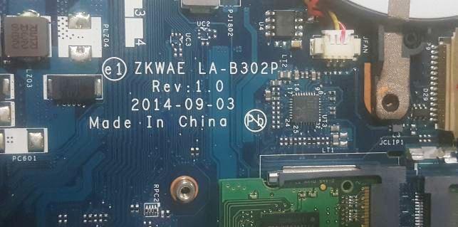 Toshiba C55D ZKWAE LA-B302P bios