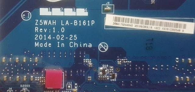 Acer Aspire E5-571 Z5WAH LA-B161P bios