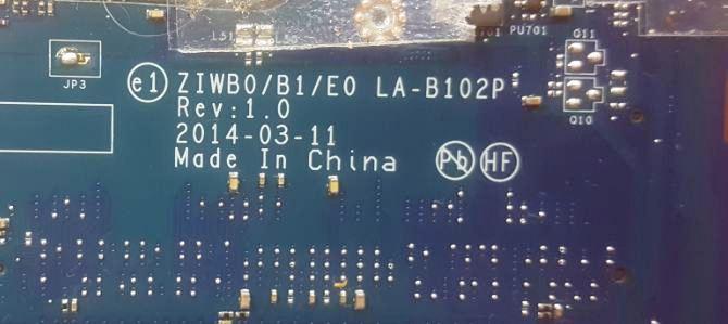 Lenovo B50 LA-B102P Bios