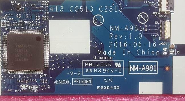 IdeaPad 310-15IKB 510-15IKB CG413 CG513 NM-A981 Discrete Bios