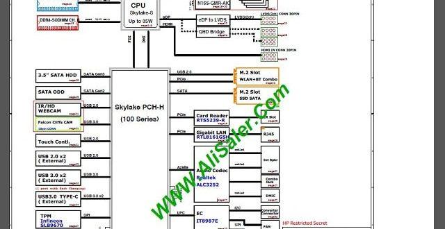 HP Pavilion All-in-One 24 Quanta N83 DA0N83MB6F0 schematic