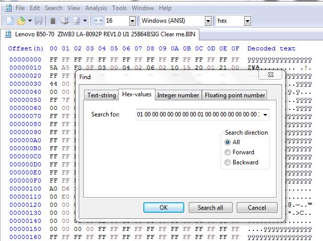 windows key from bin