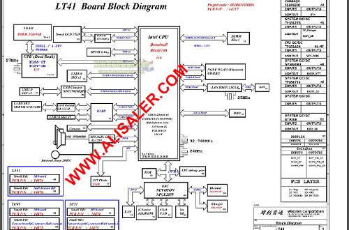 Lenovo Yoga 500-14IBD LT41 Wistron 14217-1 schematic